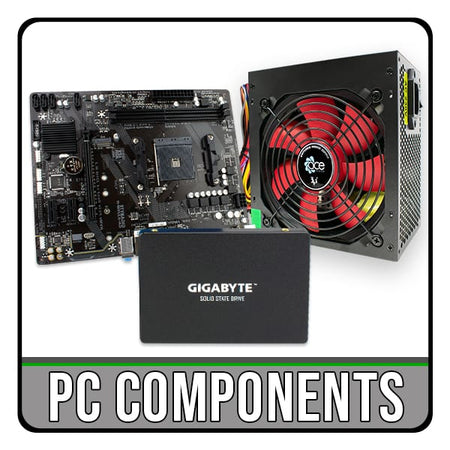 pc computer components. motherboards, memory, SSD, PSU. iChoose Ltd.