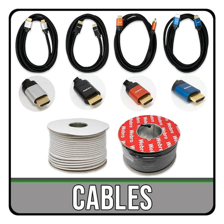 various computer, tv and telephone cables. including hdmi, rj11, rj45, coaxial, usb, network and extension leads. iChoose Ltd.
