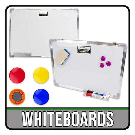 whiteboards in several sizes for home, kitchen, work, office, home schooling, lockdown. iChoose Ltd.