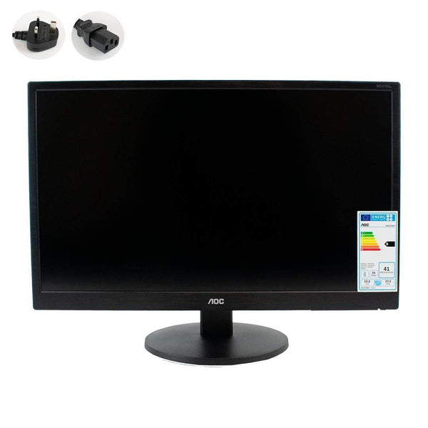 "AOC M2470SWH 23.6"" Full HD WLED HDMI D-Sub Desk Monitor Black AOC"