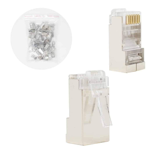 "Cablexpert 30u"" Shielded Modular Plug Gold Plated 50 per Bag Cablexpert"