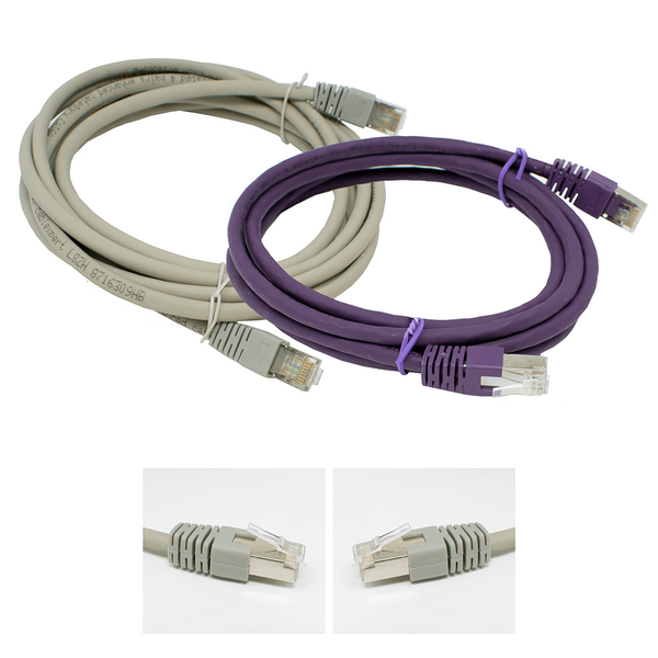 Cablexpert LSZH Cat6a RJ45 Ethernet Patch Cable Purple or Grey Cablexpert