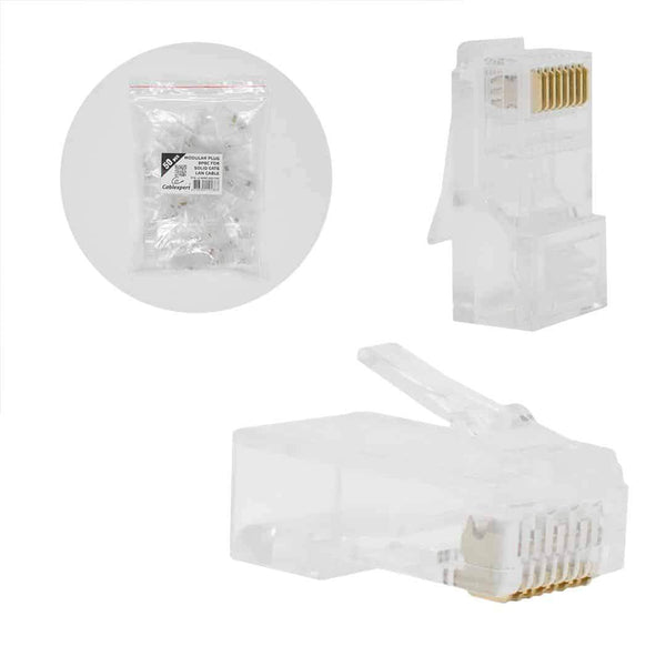 "Cablexpert Modular 30u"" Plug for Solid Cat6 Cable 50 per Bag Cablexpert"