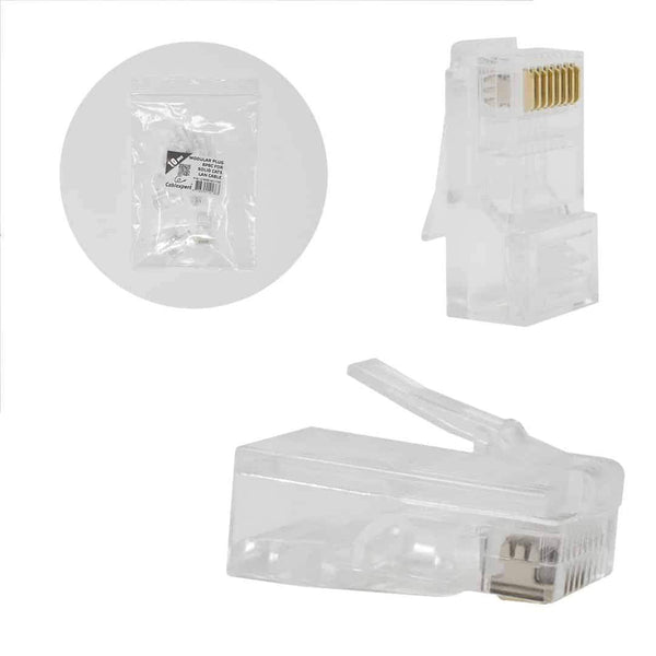 Cablexpert Modular 8P8C Plug for Solid LAN Cable UTP 10 per Bag Cablexpert