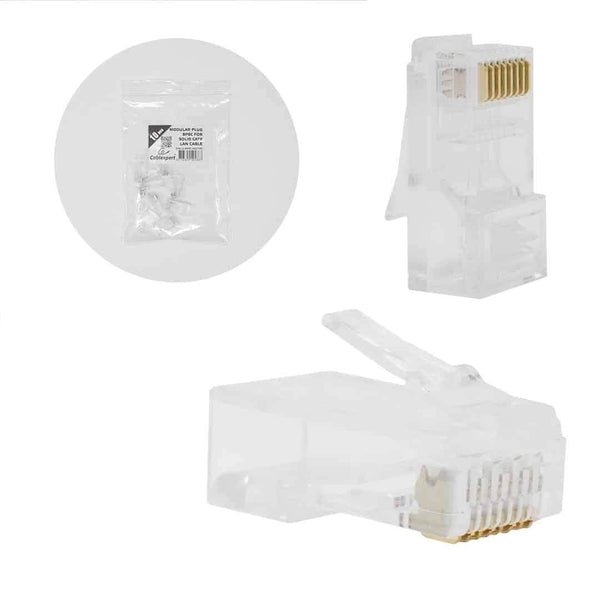 Cablexpert Modular Plug for Solid Cat6 LAN Cable 10 per Bag Cablexpert