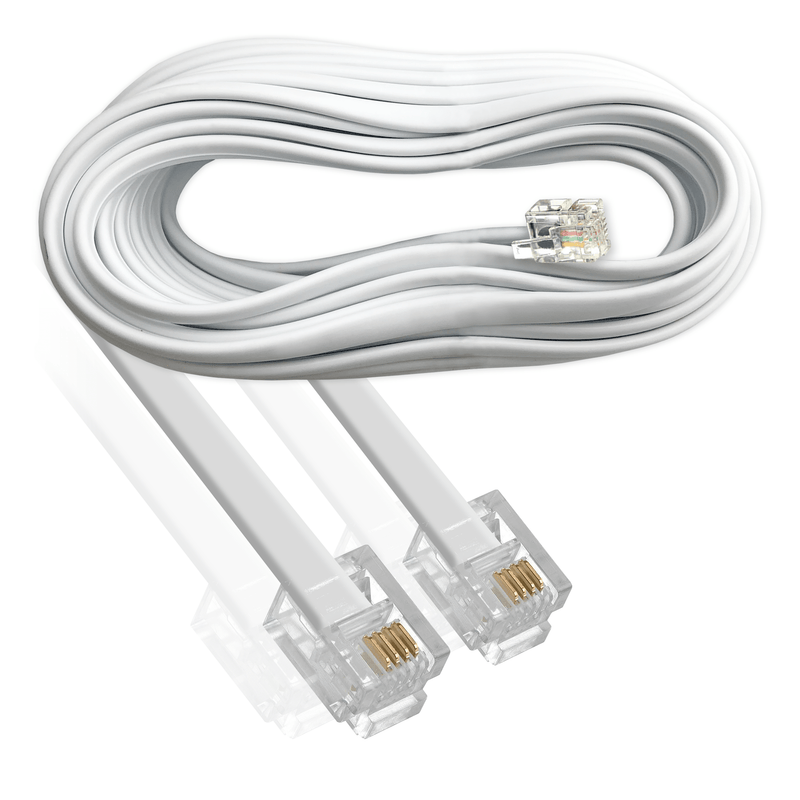 Cablexpert RJ11 to RJ11 ADSL Broadband Cable 6P4C White 7.5m Cablexpert