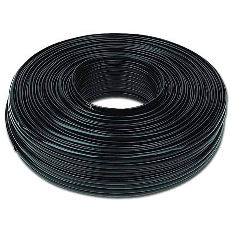 Flat Telephone Cable Stranded Wire 100m Black 2 Wires Cablexpert