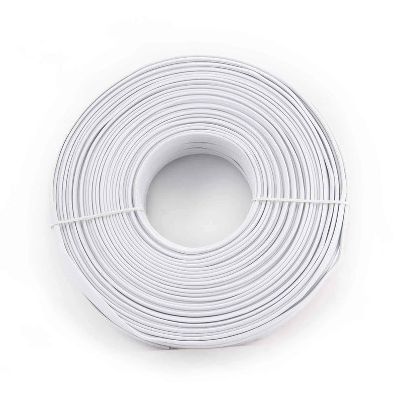 Flat Telephone Cable Stranded Wire 100m White 6 Wires Cablexpert