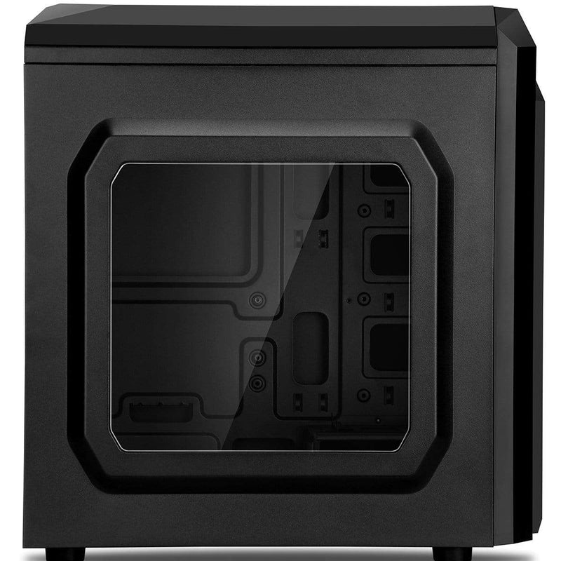 CiT Black Gaming PC Micro-ATX Case with 12cm Green LED Fan CiT