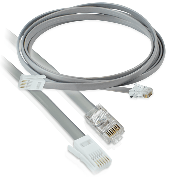 Connectix BT Male to RJ45 Cat5e Crossover Cable 1m Grey Connectix