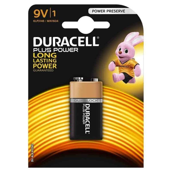 Duracell Plus Power Batteries 9V 6LF22/MN1604 Duracell