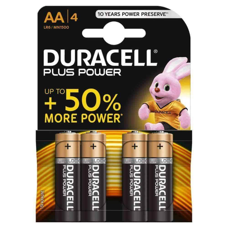 Duracell Plus Power Batteries AA R6/MN1500 Pack of 4 Duracell