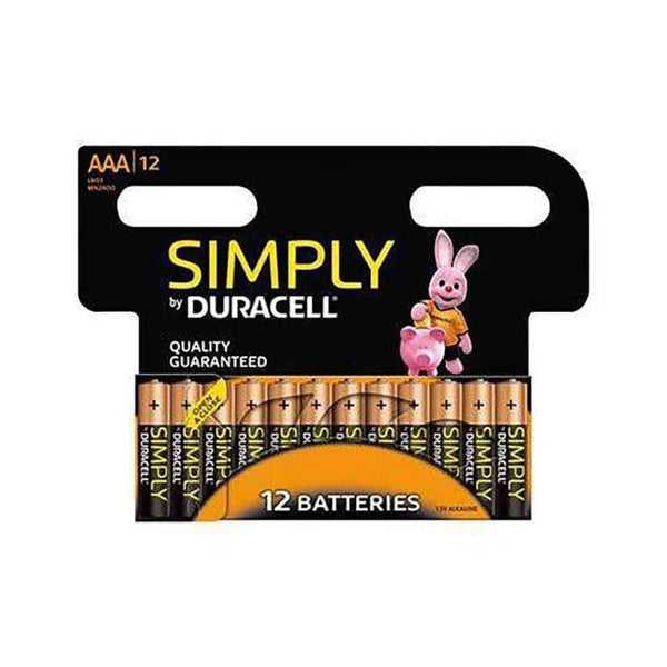 Duracell Simply Batteries AAA LR03/MN2400 Pack of 12 Duracell