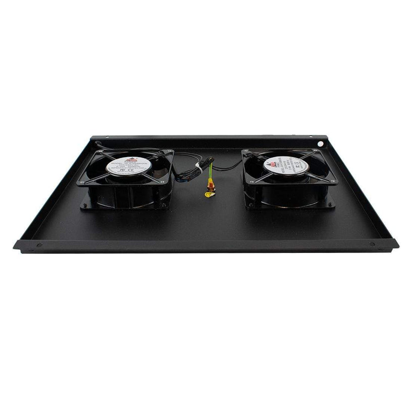 "Dynamode CABFAN-FE-2RM Cooling Fan for 19"" Rack Data Cabinet iChoose Ltd"