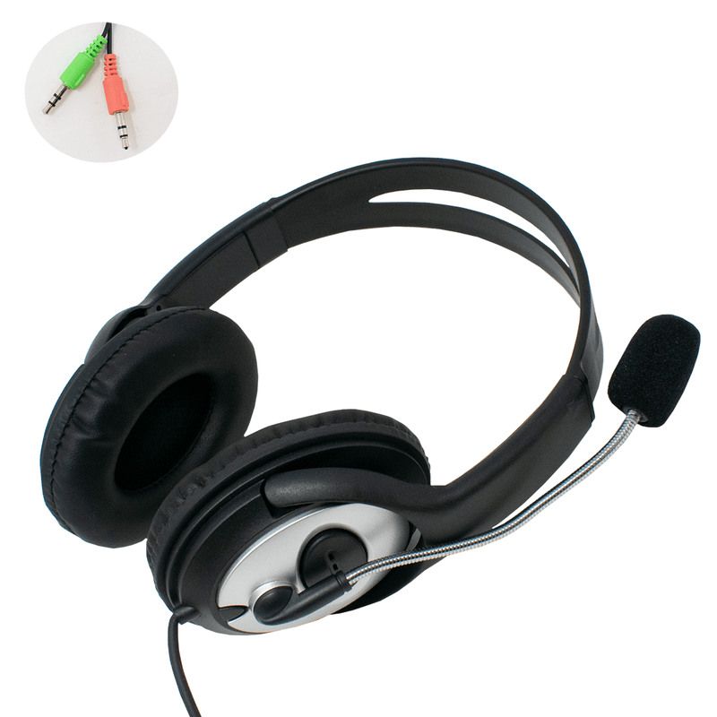 Dynamode DH-660 3.5mm Stereo Headset with Microphone for PC Dynamode