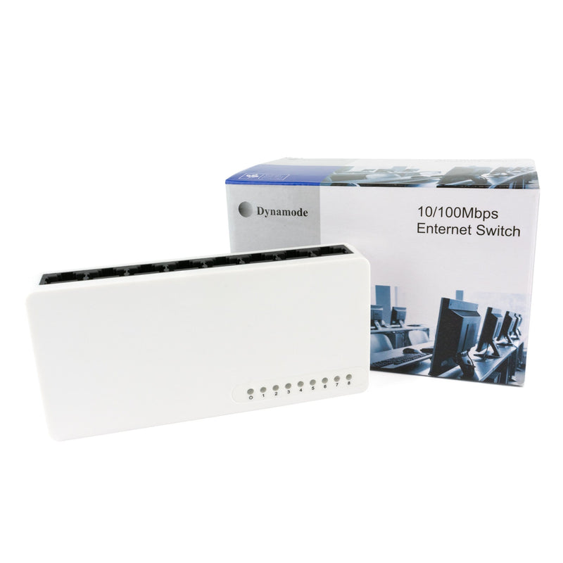 Dynamode SW80010-D | 8 -Port 10/100 Mbps Network Switch Dynamode