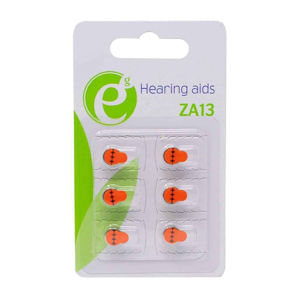 Energenie Hearing Aid ZA13 High Performance Batteries 6 Pack Energenie