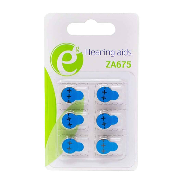 Energenie Hearing Aid ZA675 High Performance Batteries 6 Pack Energenie