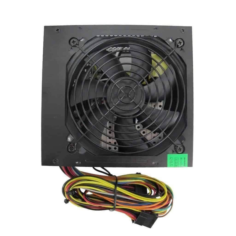 Builder 500W ATX PSU Power Supply 12cm Silent Black Fan for PC Evo Labs