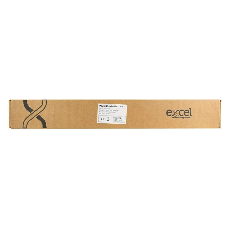 Excel D16-12-EXL Power Distribution Unit 0U 12 Way PDU 3m Cable Excel