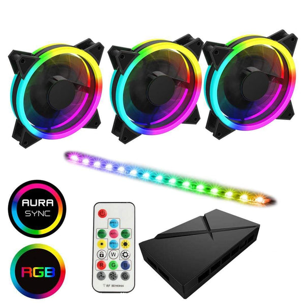 GameMax ARGB 3-in-1 Kit Velocity Fans LED & Hub GameMax