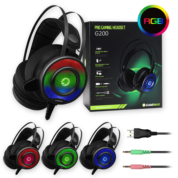 GameMax G200 Pro Gaming Headset with Microphone GameMax