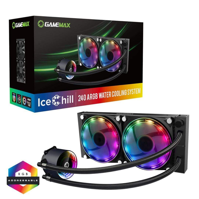 GameMax Ice Chill 240mm ARGB AIO Water Cooling System GameMax