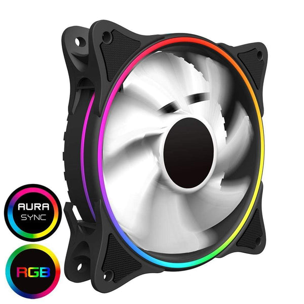 GameMax Mirage White PC Cooling LED Fan 120mm GameMax