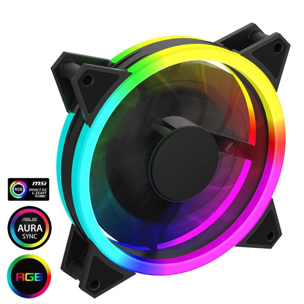 GameMax Velocity PC Cooling Fan 120mm Rainbow LED GameMax
