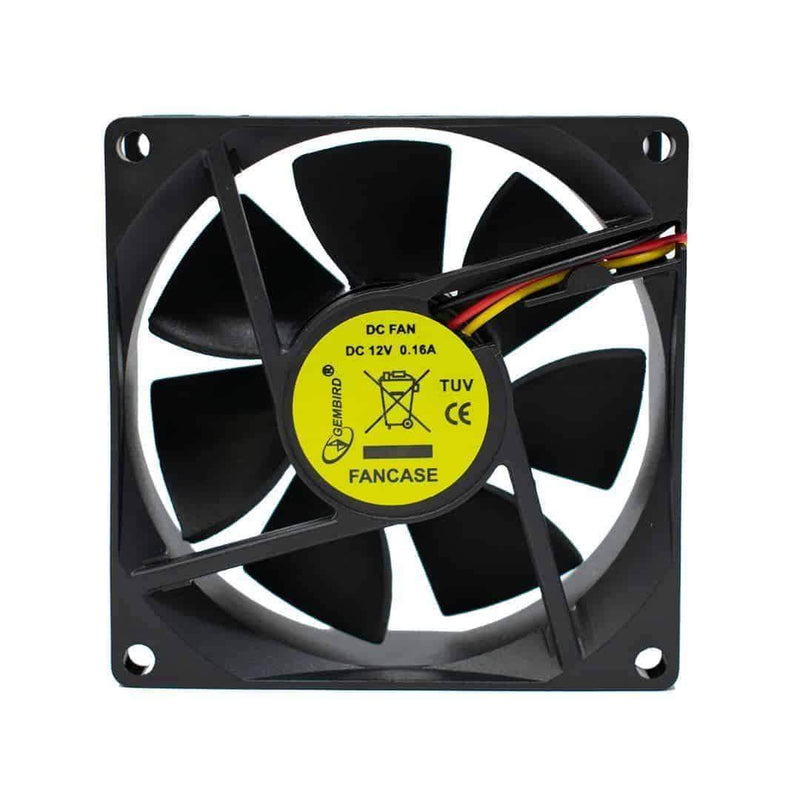 Gembird FANCASE Silent 8cm Case Sleeve Bearing Fan for PC Gembird