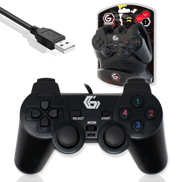 Gembird JPD-UDV-01 USB Dual Vibration Gamepad for PC Computer Gembird