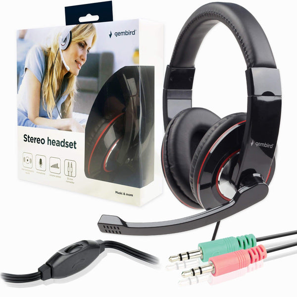 Gembird MHS-001 3.5mm Headset and Microphone for PC Black Gembird