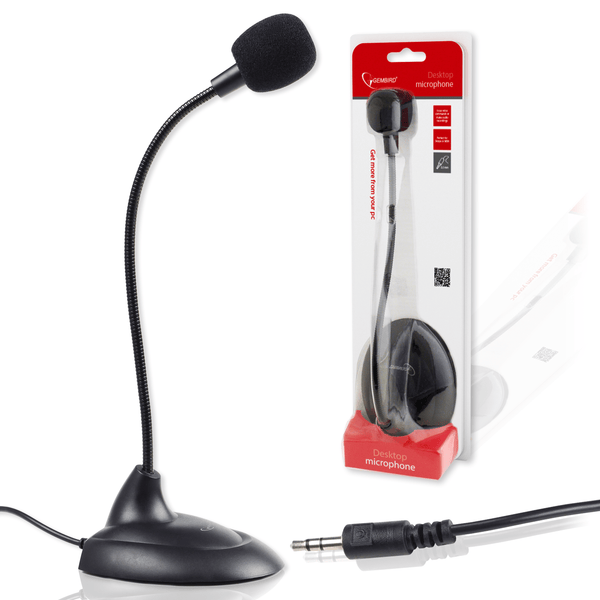 Gembird MIC-205 3.5mm Gooseneck Desktop Microphone for PC Skype Gembird