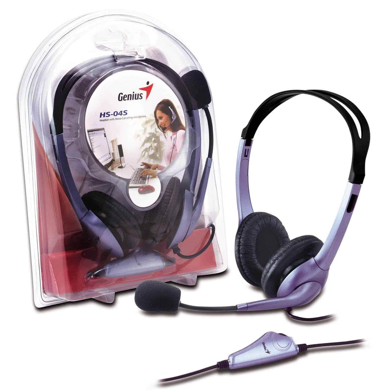Genius HS-04S Headset and Noise Cancelling Microphone for PC Genius