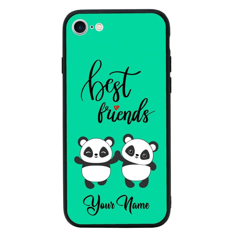 Apple iPhone 6 6s Personalised Name Case Glass Cover / Best Friends I-Choose Ltd