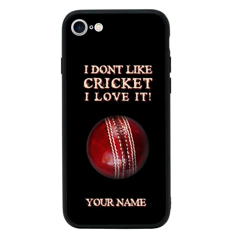 Apple iPhone 6 6s Personalised Name Case Glass Cover / Cricket I-Choose Ltd