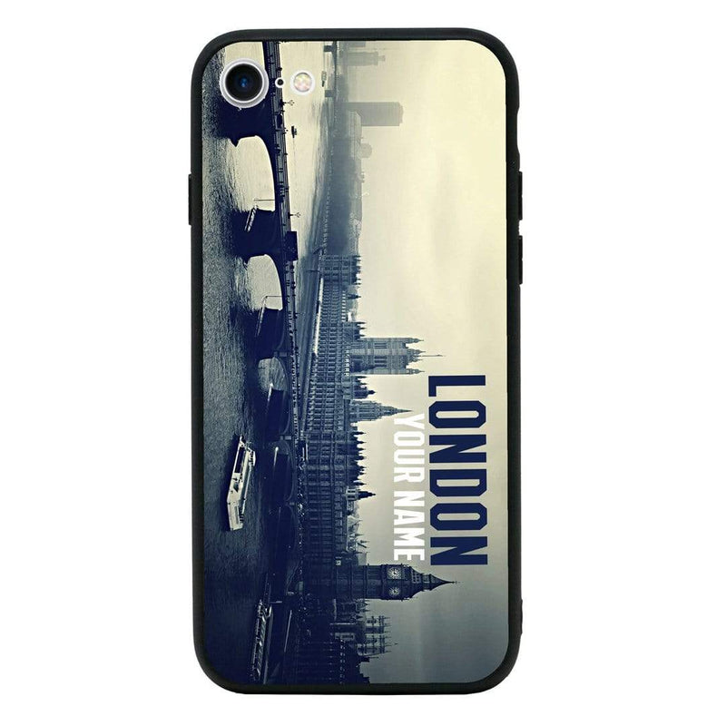 Apple iPhone 6 6s Personalised Name Case Glass Cover / London I-Choose Ltd