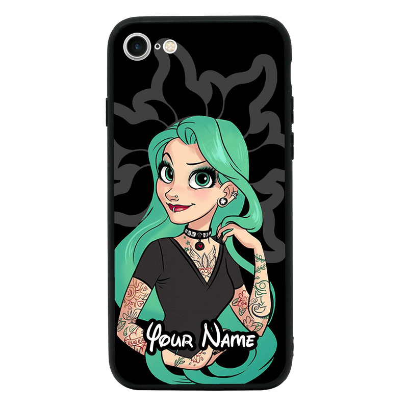 Apple iPhone 6 6s Personalised Name Case Glass Cover / Tattoo I-Choose Ltd