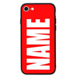 Apple iPhone 7 Personalised Name Case Glass Cover / Bold I-Choose Ltd