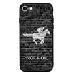 Apple iPhone 7 Personalised Name Case Glass Cover / Horse Racing I-Choose Ltd