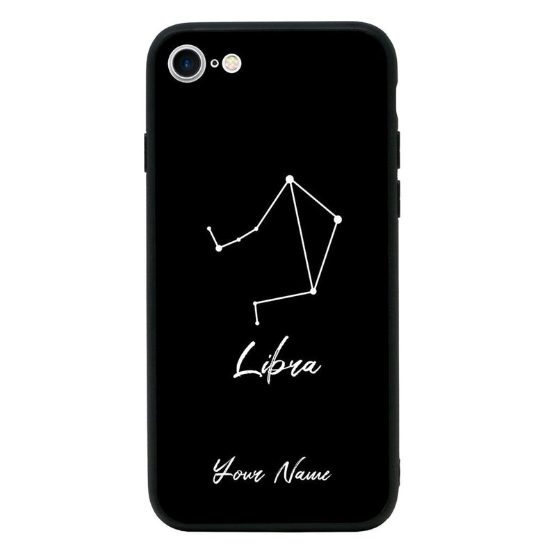 Apple iPhone 7 Personalised Name Case Glass Cover / Zodiac I-Choose Ltd