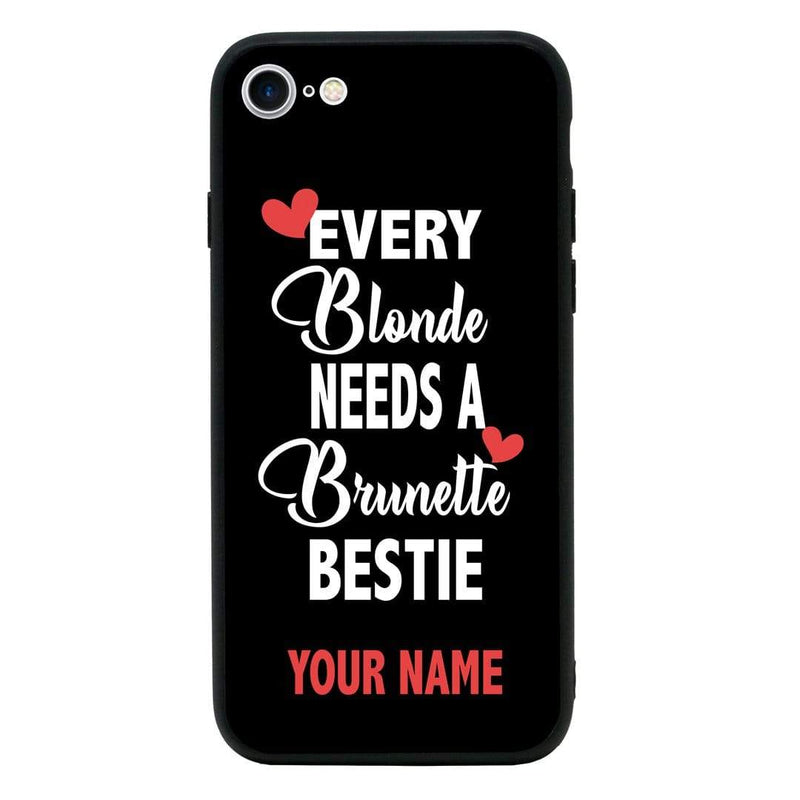 Apple iPhone 7 Plus Personalised Name Case Glass Cover / Best Friends I-Choose Ltd
