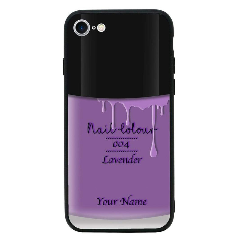 Apple iPhone 7 Plus Personalised Name Case Glass Cover / Nail Polish I-Choose Ltd