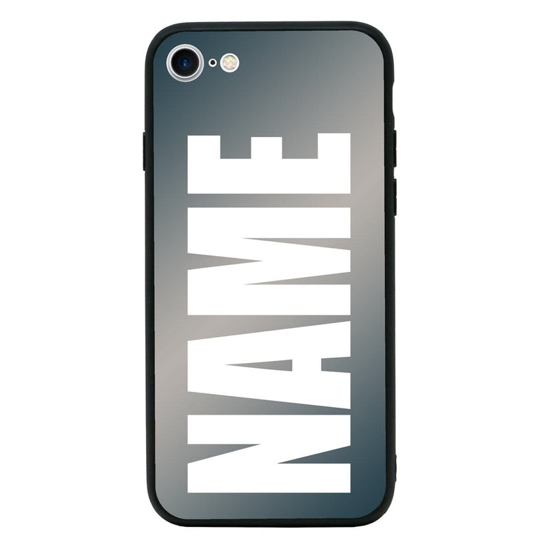 Apple iPhone 8 Personalised Name Case Glass Cover / Bold I-Choose Ltd