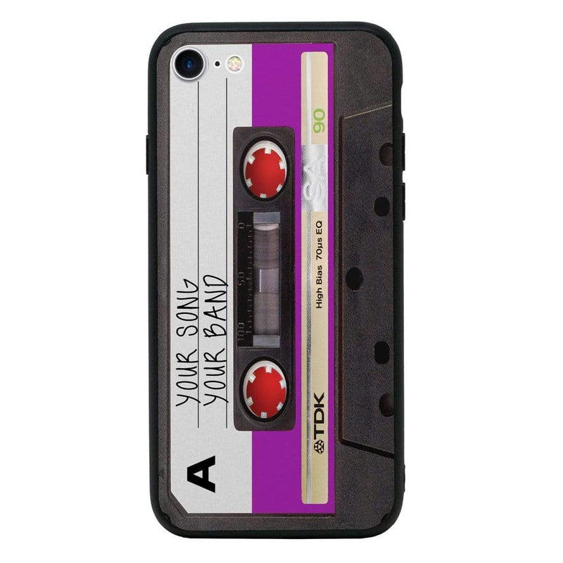 Apple iPhone 8 Personalised Name Case Glass Cover / Cassette Tape I-Choose Ltd