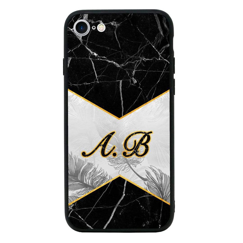 Apple iPhone 8 Personalised Name Case Glass Cover / Contrast I-Choose Ltd