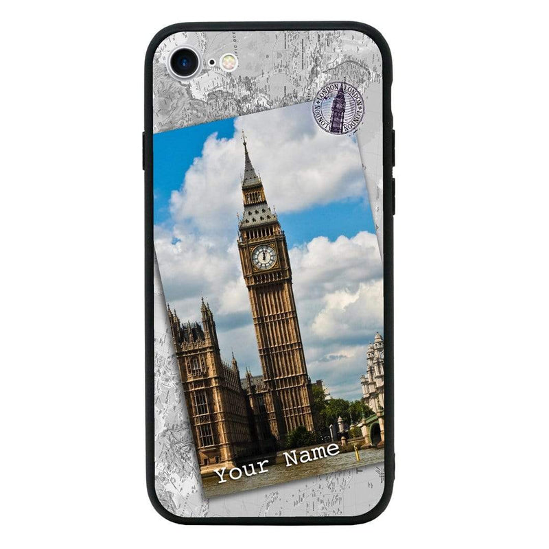 Apple iPhone 8 Personalised Name Case Glass Cover / Landmarks I-Choose Ltd