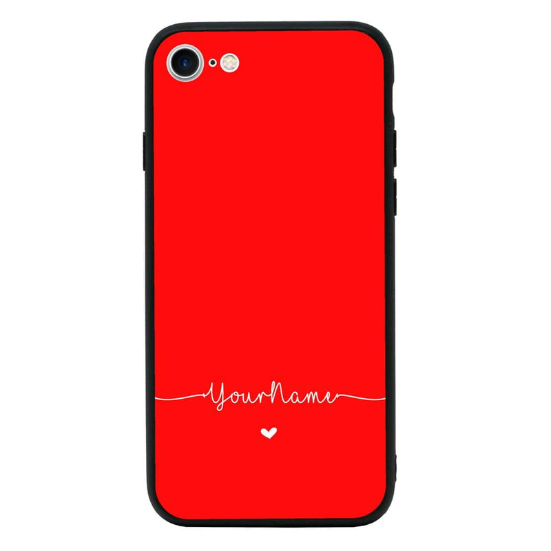 Apple iPhone 8 Personalised Name Case Glass Cover / Name Line I-Choose Ltd