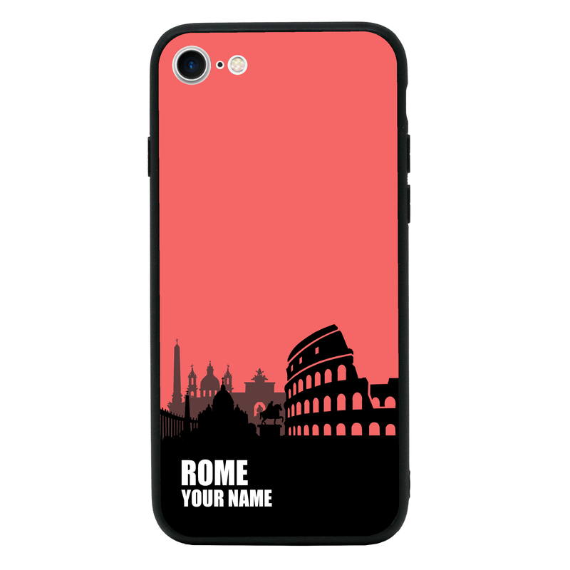 Apple iPhone 8 Personalised Name Case Glass Cover / Skyline I-Choose Ltd
