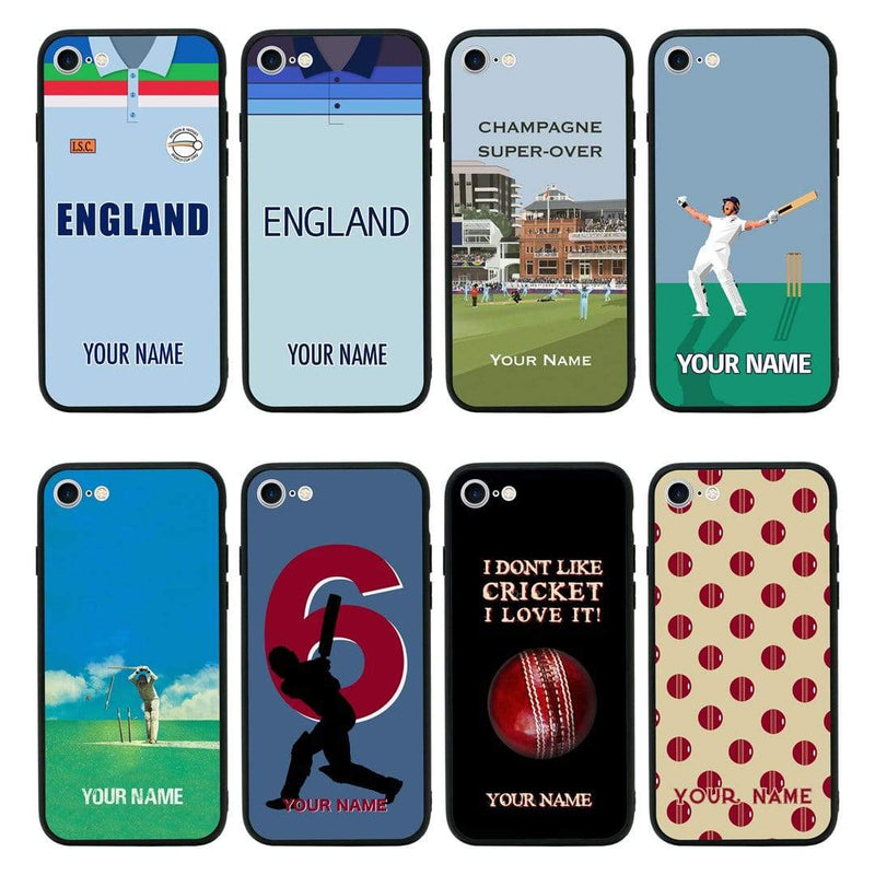 Apple iPhone 8 Plus Personalised Name Case Glass Cover / Cricket I-Choose Ltd